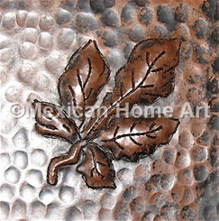 Copper Tile Ash Motif