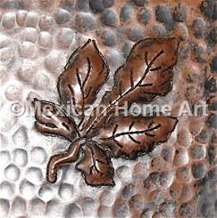 Copper Tile Ash Motif