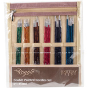 "Knitter's Pride Royale Double Pointed Needles Set 6"" in Paris Themed Case"