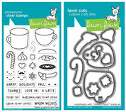 Thanks a Latte Clear Stamp Set and Coordinating Lawn Cut Die Set, Two Item Bundle
