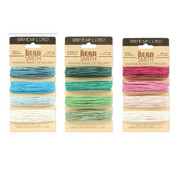 Green Blue and Pink Hemp Twine Mix 20lb Test 1mm Diameter 12 Colors 360 Feet of Cord