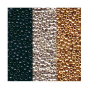Metallic Miyuki Seed Bead Mix, Size 8/0, Galvanized Silver, Galvanized Gold And Black Opaque