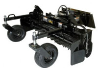 New : Harley Power Rake Skid Steer Track Loader Attachment for Hire