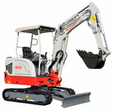 New Takeuchi TB225 2.5t Expandable Track Conventional Mini Excavator