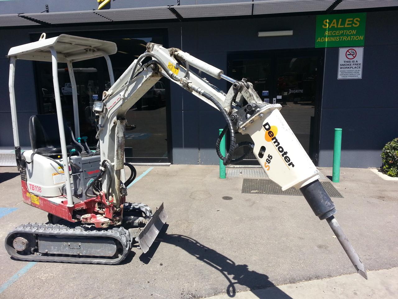 Demoter S85 Hydraulic Rock Breaker suit 0 7-2t Mini Excavator