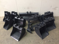 Buckets and Attachments to suit Kobelco SK45SR, SK55SR Excavator
