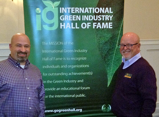 Jeremy Lopatin of Arbor Teas with IGIHOF Founder Sam Geil