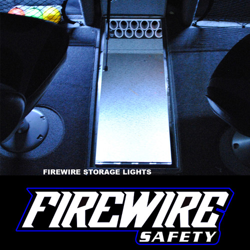 FIREWIRE 6 INCH HD COMPARTMENT LIGHTING USED IN A STORAGE COMPARTMENT