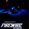 BLUE FIREWIRE LED MINI ROCK LIGHT KIT USED ON A TRUCK.