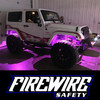 PINK / PURPLE FIREWIRE LED MINI ROCK LIGHT KIT IN ACTION ON A JEEP
