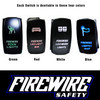 FIREWIRE LED WORK LIGHTS SWITCH COLOR OPTIONS