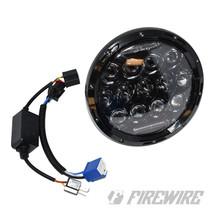 """7"""" Round Bugeye Headlight Kit Red DRL"""