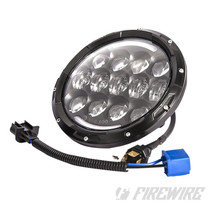 "7"" Round LED Headlight with Amber/White Turn Signal"