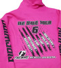 Cyber Pink We Have Your 6 Hoodie