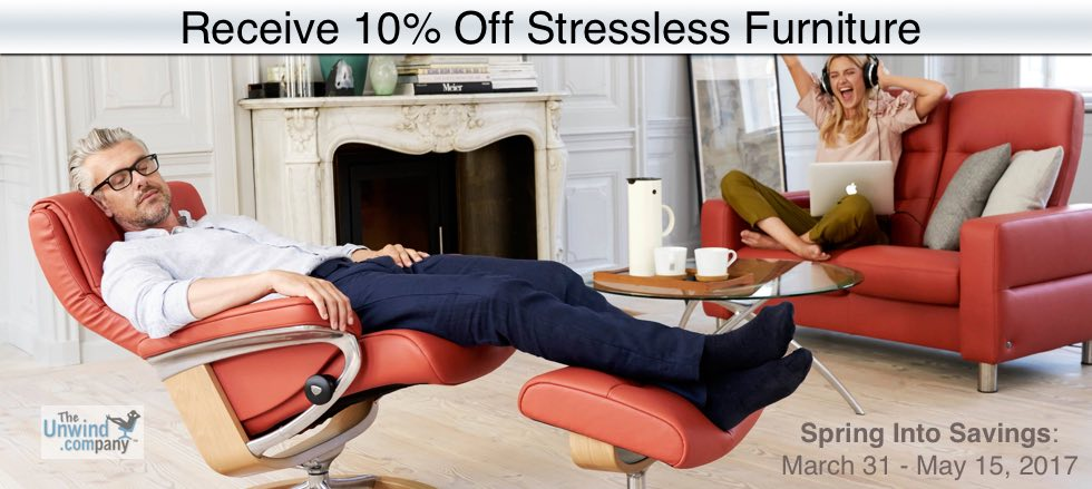 The Stressless Spring Into Charity Promotion- Save 10% on Stressless Furniture