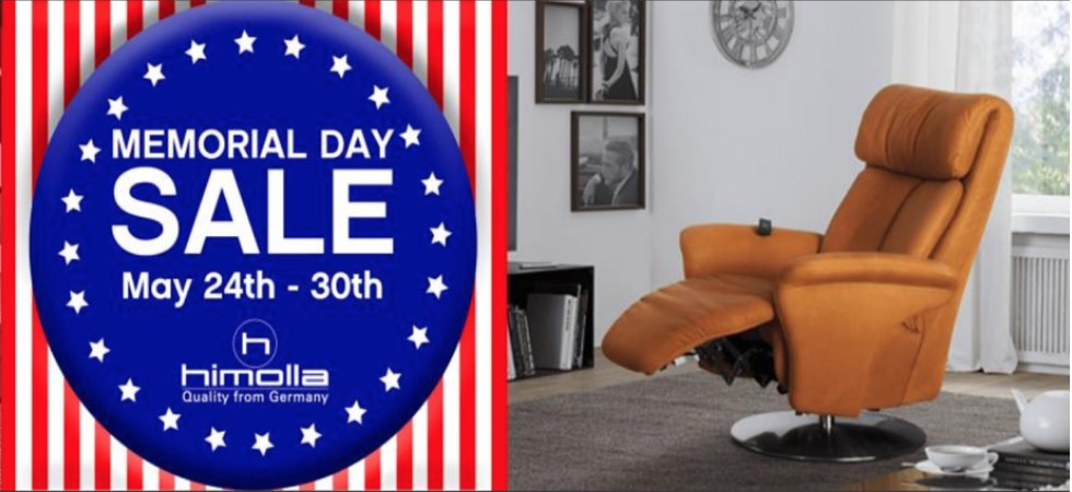 Memorial Day Sale- Save $100's on Himolla Recliners & Furniture