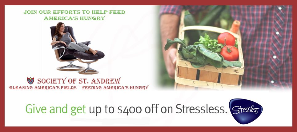 The Ekornes Stressless 2016 Charity Promotion is Going on Now at Unwind.com. Save Up to $400 on Stressless Recliners