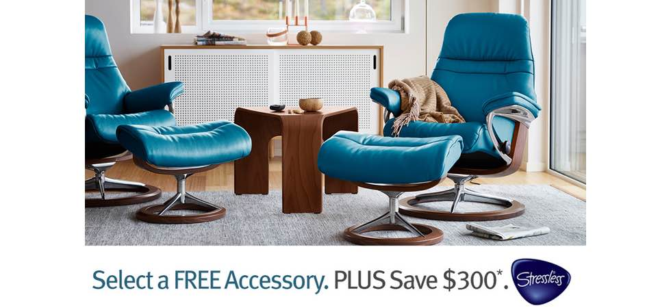 The Stressless FREE Accessory Promotion is Going on Now at Unwind!