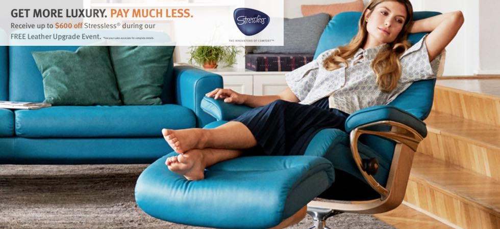 The Ekornes Stressless Leather Upgrade Promotion is Going on Now!