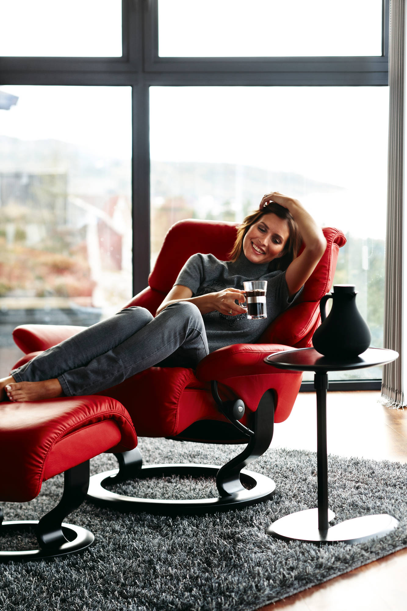 Relax and Unwind in a Stress Less Spirit Recliner Chair.