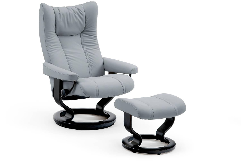 ekornes stressless wing large fast nationwide delivery. Black Bedroom Furniture Sets. Home Design Ideas