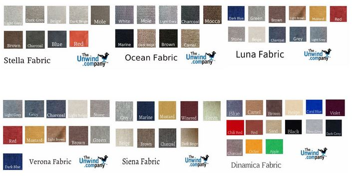 Fabrics available on all Stressless items.