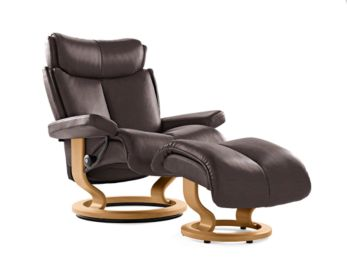Ekornes Stressless Magic Chocolate Paloma Teak Stained Image
