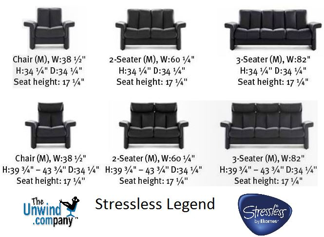 Stressless Legend by Ekornes- Dim.