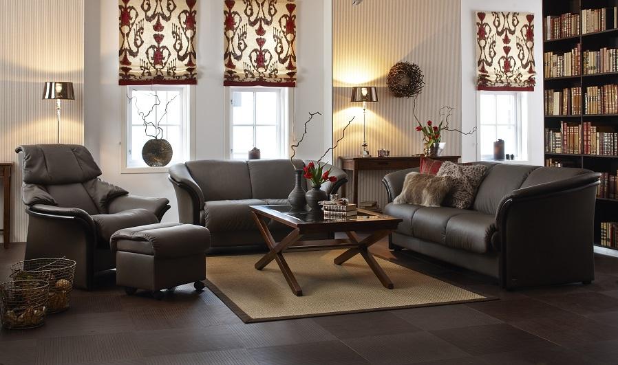 Ekornes Manhattan Sofa and Eldorado High Back Chair