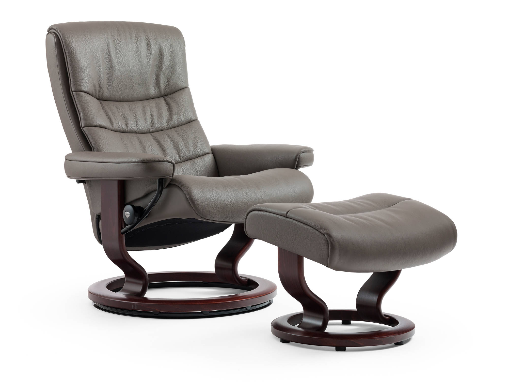Ekornes Stressless Nordic Recliner and Ottoman large Pain Free