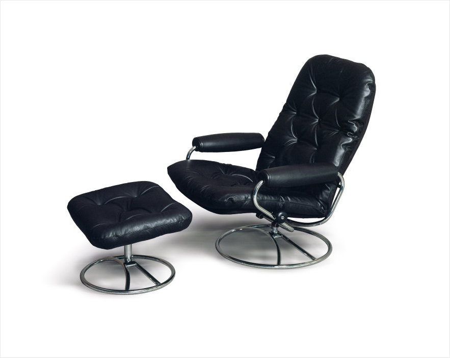 Exceptional Original Stressless Recliner Shown After Being Well Taken Of For Years.