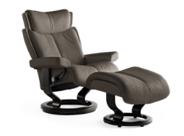 Stressless Magic Medium Recliner and Ottoman