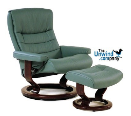 Stressless Nordic Recliner and Ottoman with Classic Base