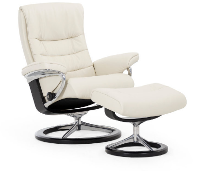 Stressless Nordic Recliner and Ottoman Signature Series Base