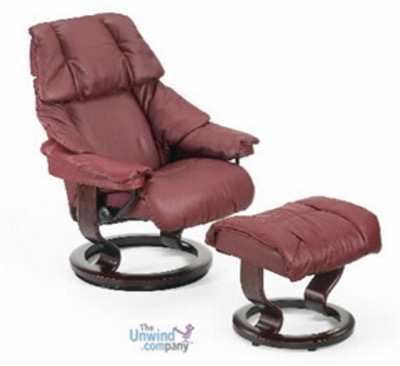 Stressless Reno Medium Chair and Ottoman
