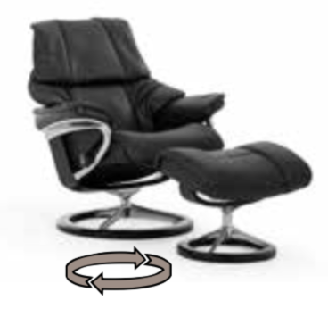 Stressless Reno Chair and Ottoman Signature Series