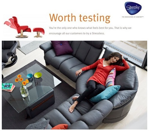 Stressless Sectionals- Get the best prices and easiest delivery at The Unwind Company.