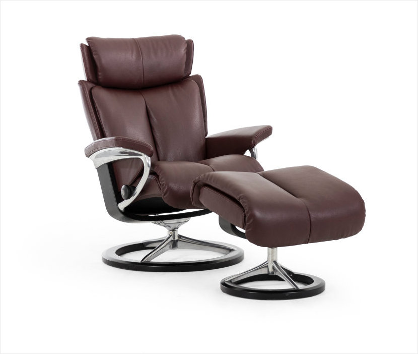 Stressless Signature Series Magic Recliner In Amarone Lesse Leather