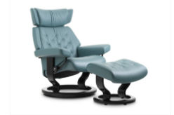 Stressless Skyline Recliner and Ottoman Classic Base