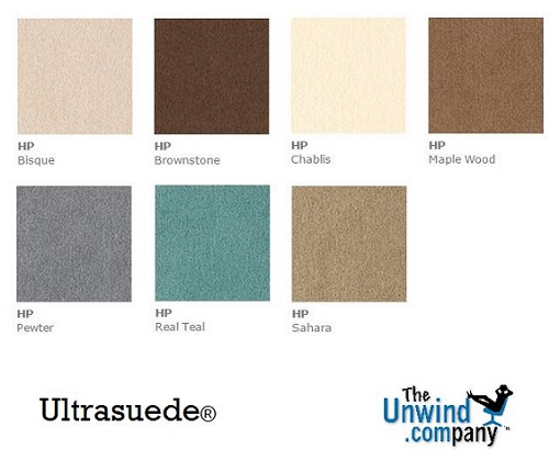 Ultrasuede Colors available in select models.