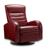 Norddal Swing Relaxer shown in Cherry Soft Line Leather