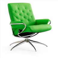 Summer Green Paloma Leather shown on this Metro Low Back Recliner Chair.