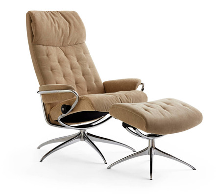 Stressless sessel jazz  Stressless Metro Recliner & Ottoman | High Back, High Base- Fast ...