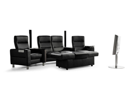 Stressless Wave Theater Seating promotes optimum comfort for maximized viewing pleasure!