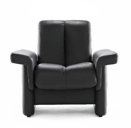 Legend Low Back Chair is perfect in Black Paloma Leather.