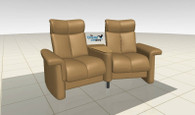Legend Theater Seating shown here using the Ekornes Configurator - Latte Batick