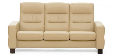 Camel Paloma Leather shown with Wood Feet.