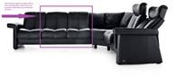 Legend 2 Seat Sectional Piece - Low Back and No Arms - Ships Free