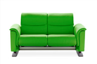 Stressless Panorama Love Seat shown in New Summer Green Paloma Leather.