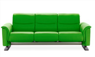 Check out the latest colors to come to Stressless Sofas- Summer Green Paloma.